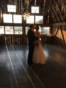 We got married inside an old barn, around sunset.  The light was spectacular, and it was magical for us!
