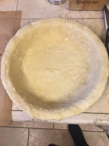 Easy, four ingredient pie crust.