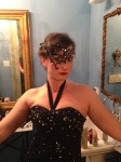 Getting ready for the masquerade ball at the first festival we hosted, The Hands On Literary Festival & Masquerade Ball in New Orleans.