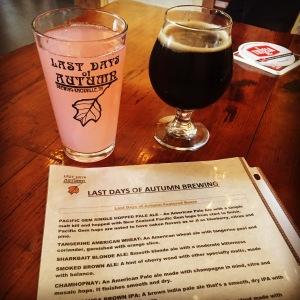 Salted Caramel Porter and Watermelon Limeade at Last Days of Autumn Brewing.