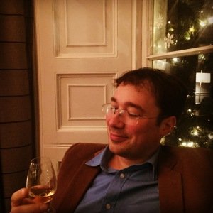 My husband appears to be enjoying his wee dram!